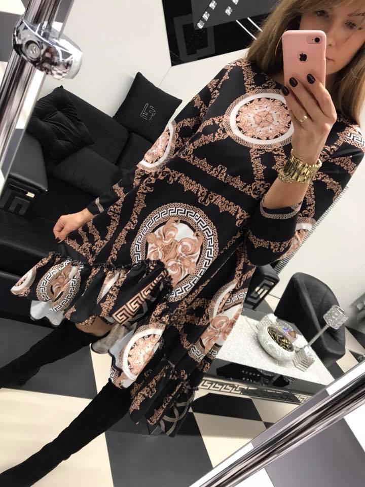 Vzorované maxi šaty na spôsob VERSACE Paparazzi fashion.  01b34b00e8b