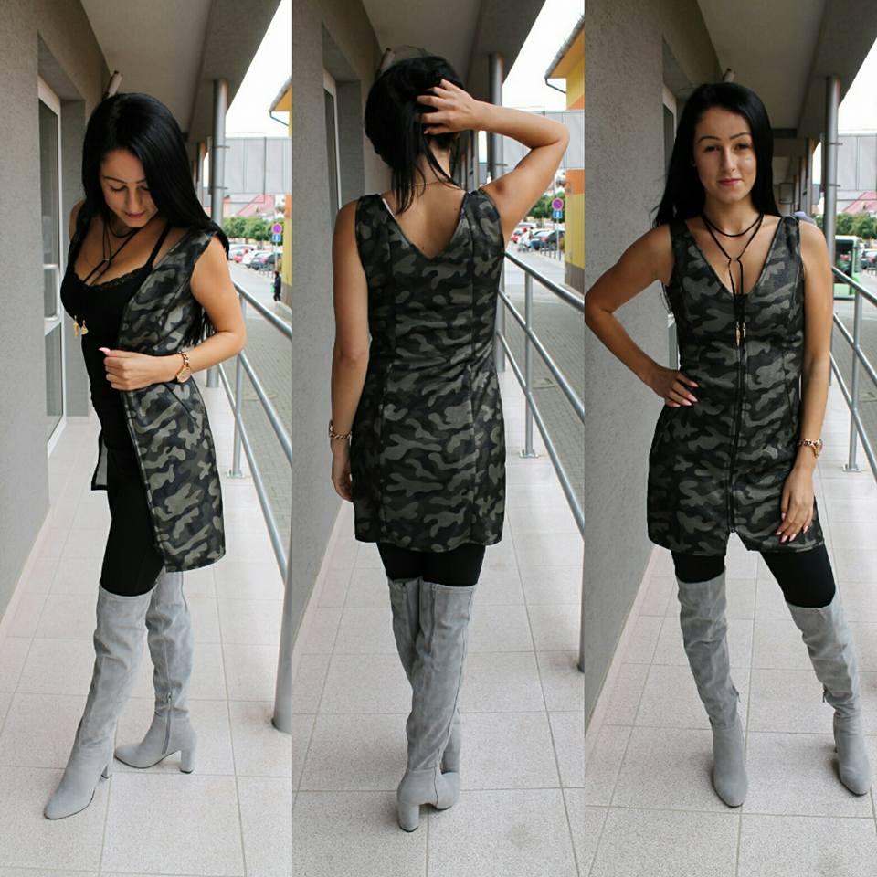 f044e2d0a06c ARMY šaty na zips.