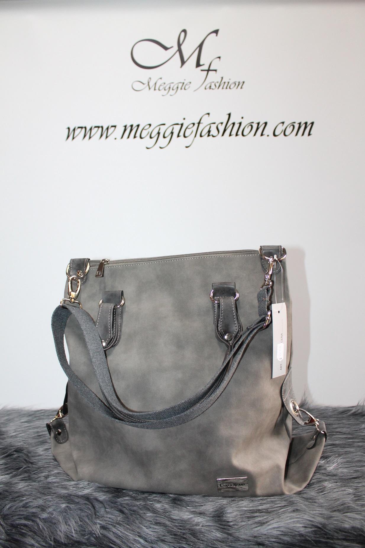 Kožená šedá kabelka CARLA BERRY.  d80ac11a674