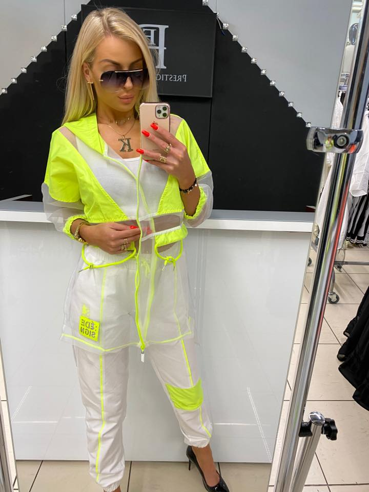 NEON limetka 2-dielny komplet PG by Paparazzi fashion.