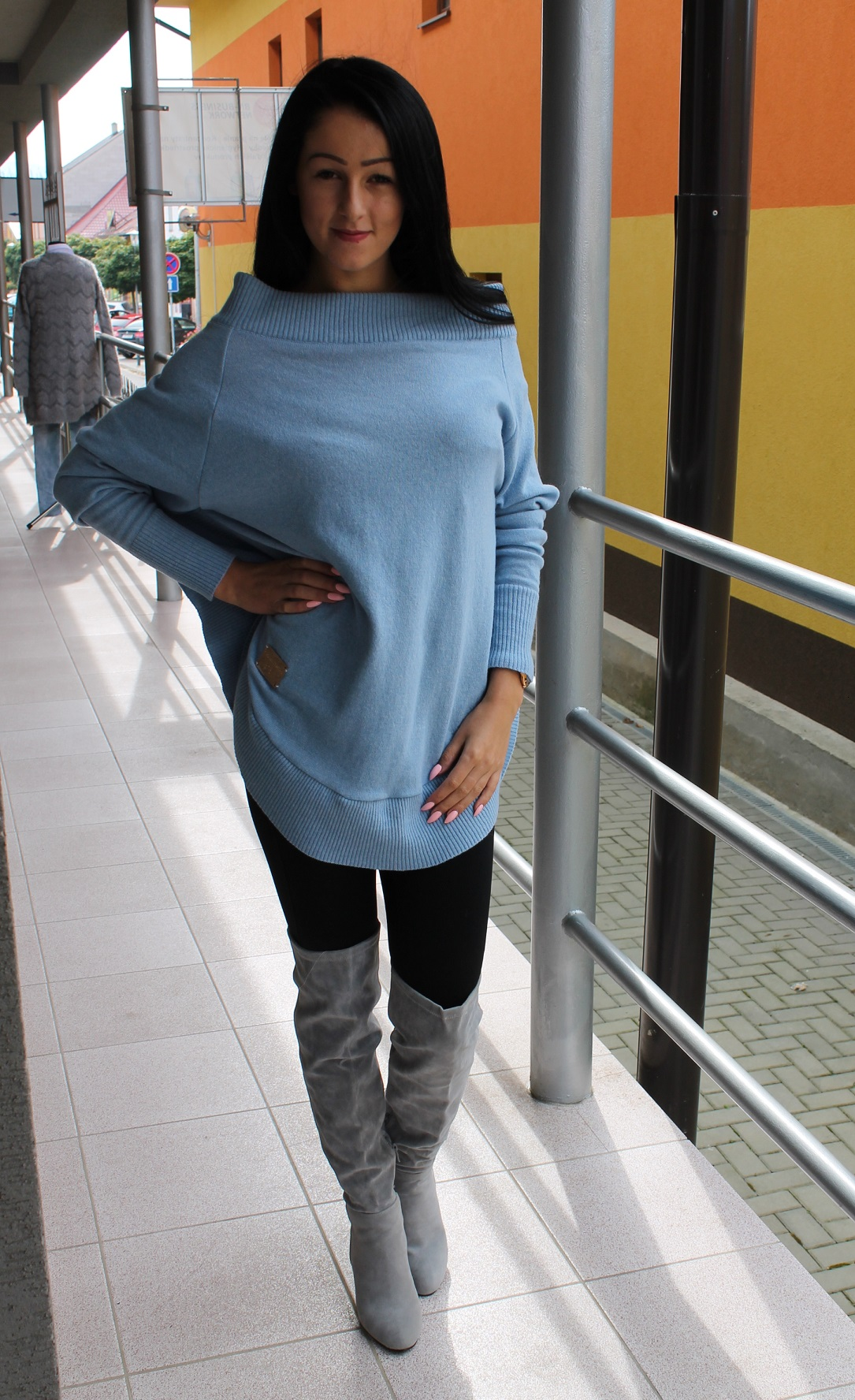 7834acbb848a Modrý oversize sveter Paparazzi.