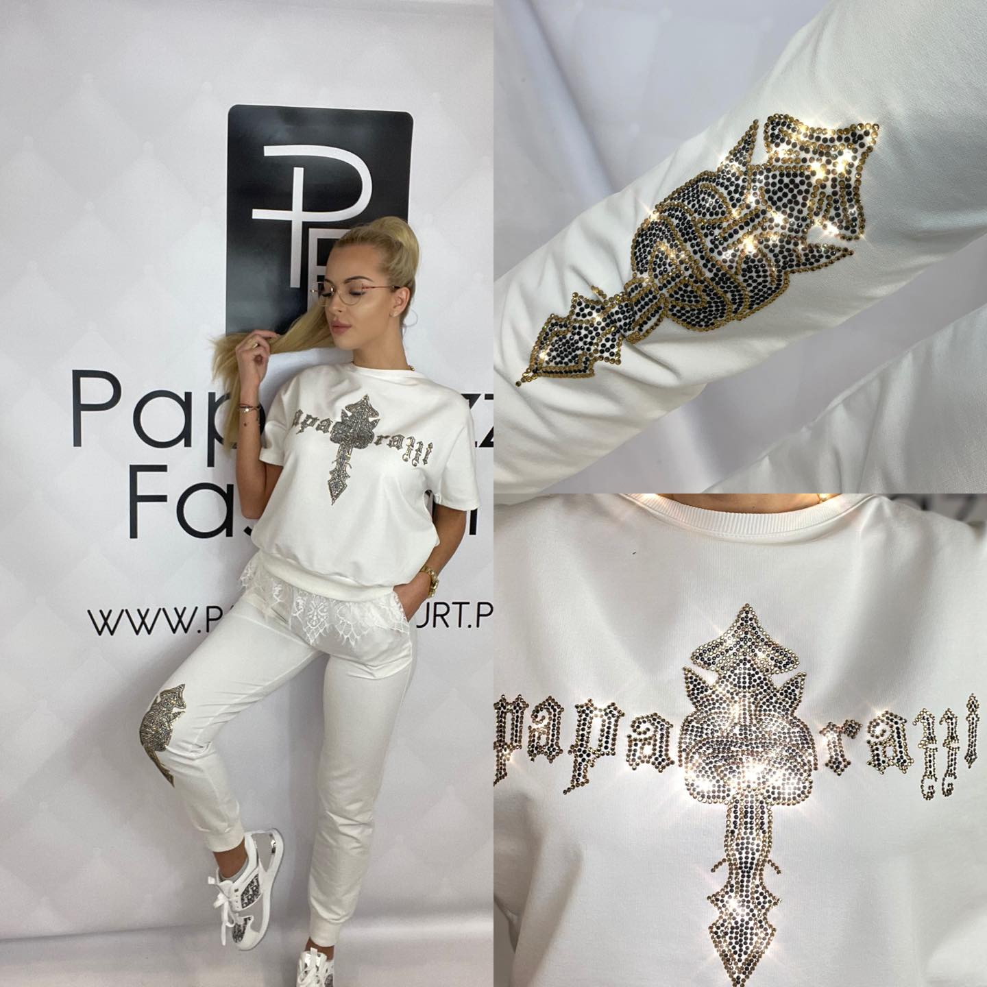 Biely set krajka by Paparazzi fashion