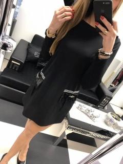 Čierne šaty so strapcovými vreckami Paparazzi fashion. empty 344e35ab0c9