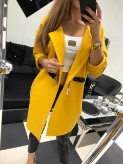 ff9e12bb4730 Žltý kabát Paparazzi fashion. empty