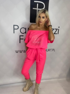 NEON PINK overal Paparazzi fashion